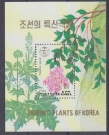 Korea North 1993 Endemic Plants M/s ** Mnh (27523) - Korea (Noord)