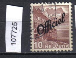 Schweiz, Bundesverwaltung Zst. / Mi. 48 O - Servizio