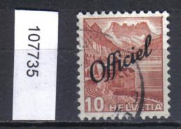 Schweiz, Bundesverwaltung Zst. / Mi. 64 O - Servizio