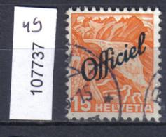 Schweiz, Bundesverwaltung Zst. / Mi. 49 O - Officials