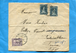 Marcophilie-Lettre Cad IZMIR-1931>france +3 Stamps - 1921-... Republic