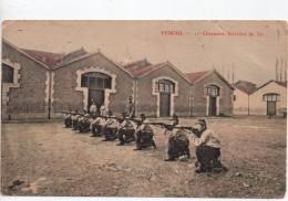 CPA.1908.Militaire.Régiments.Vesoul.11ème Chasseurs.exercice De Tir.animée Soldats Et Fusils. - Régiments