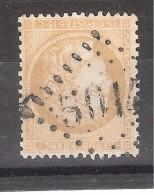 CERES N° 59, 15 C Bistre Obl GC 5014 , Bureau De BOGHAR, Alger  ,  Algérie, INDICE 18, ,TB - 1871-1875 Cérès