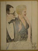 Dessin Au Crayo Dn-Illustrateur -Marilyn Monroe Et Arthur Miller  (8) - Drawings