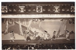 Japan, Theatre Theater Drama Or Dance Performance, Lot Of 2 C1920s/30s Vintage Photographs - Places