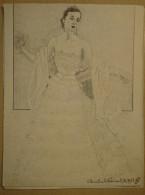 Dessin Au Crayon-Illustrateur -Ludmila Tcherina, Pseudonyme De Monique Tchemerzine, Est Une Danseuse Française (8) - Dessins