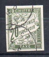 Timbre Taxe N° 21 Oblitéré   Tahiti  Papeete - Taxes