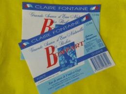 LOT 2 étiquettes Neuves Identiques Eau De Source BOMPART Voeuil Et Giget 16   1,5 L CLAIREFONTAINE France - Etiketten