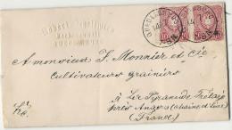-= ALLEMAGNE -YT#32(x2) S/lettre De QUEDLINBOURG Pour LA PYRAMIDE Par TRÉLAZÉ (Maine-et-Loire) - Germany