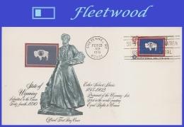 US #1676 U/A FLEETWOOD FDC   Wyoming State Flag - FDC