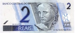 BRAZIL 2 REAIS ND (2011) P-249 UNC PREFIX-SUFIX D/A [BR871h] - Brazilië