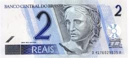 BRAZIL 2 REAIS ND (2011) P-249 UNC PREFIX-SUFIX D/A [BR871h] - Brazil