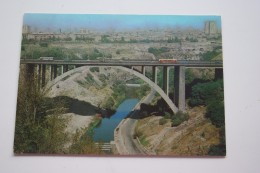 Armenia Postcard Yerevan. Razdan Bridge   TRAM - TRAMWAY  1979 Stationery - Tramways