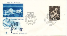 Vatican Souvenir Cover 22-4-1964 Vatican Pavilion New York World's Fair Art Craft Cachet - Vatican