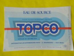 étiquette Neuves  Eau De Source Supermarchés TOPCO 19 BRIVE   1,5 L Source Roches Bleues 87 CHALUS  France - Etiketten