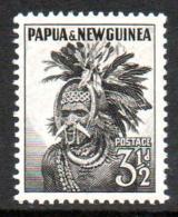PAPUA NEW GUINEA – 1958 3.5d Black LMM. (SG6a) - Papouasie-Nouvelle-Guinée