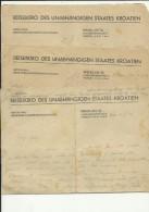 CROATIA  --   NEZAVISNA DRZAVA HRVATSKA  --  NDH  --   3 X A4 FORMAT PAPIER REISEBURO UNABHANGIGEN STAATES KROATIEN - Unclassified