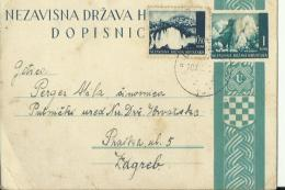 NEZAVISNA DRZAVA HRVATSKA  --  NDH   ---  DOPISNICA   --  POSTAL STATIONERY  --  VVII - Kroatien