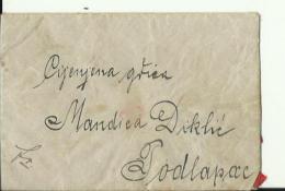 BRIEF MIT INHALT  --   M. DIKLIC  --   PODLAPAC, LIKA  --  FROM SINAC, LIKA  --  1914 - Kroatien