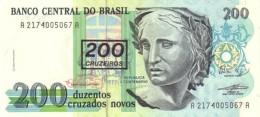 BRAZIL 200 CRUZEIROS ND (1990) P-225 UNC [BR847b] - Brazilië