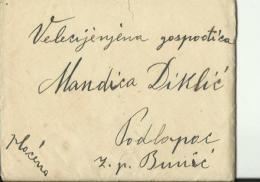 BRIEF MIT INHALT  --   M. DIKLIC    --  PODLAPAC, BUNIC,  LIKA  --  STEMPEL GOSPIC  --  1914 - Kroatien