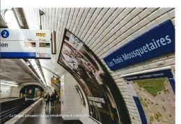 Métro Paris - Tirage Photographique 2016 - Station Alexandre Dumas Poisson D'avril RATP 2016 ..LES TROIS MOUSQUETAIRES - Lieux