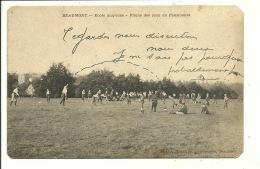 Beaumont Ecole Moyenne Plaine Des Jeux Du Pensionnat ( Etat Coins Recoupés Voir Scans ) - Malines