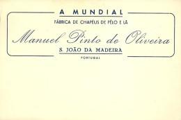 S. JOÃO Da MADEIRA - FÁBRICA De CHAPÉUS De PELO E LÃ - Manuel Pinto De Oliveira - Portugal - Publicidad