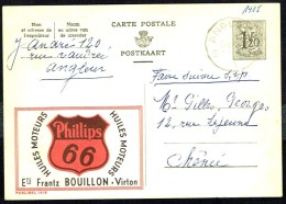 "CP Public. N° 1415  ""Huiles Moteurs PHILLIPS 66"" - Circulé - Circulated - Gelaufen - 1956. - Publibels"