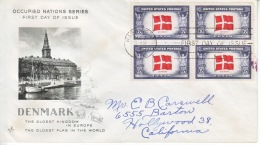 US FDC  OCCUPIED  NATIONS  DENMARK - United States