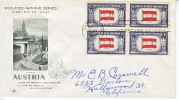US FDC  OCCUPIED  NATIONS  AUSTRIA - United States