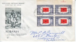 US FDC  OCCUPIED  NATIONS  ALBANIA - United States