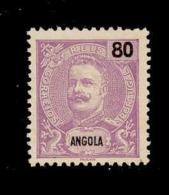 ! ! Angola - 1898 D. Carlos 80 R - Af. 46 - No Gum - Angola