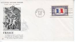 US FDC  OCCUPIED  NATIONS  FRANCE - United States