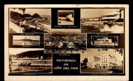 CHILE VIÑA DEL MAR CONCON CASINO HIPODROMO HOTEL TARJETA POSTAL  Vintage Original Ca1940 POSTCARD CPA AK (W4_2898) - Chile