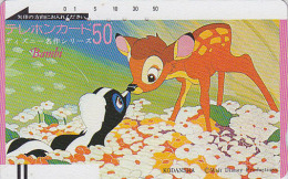 Télécarte Ancienne Japon / 110-3929 - DISNEY - BAMBI Cinema - Japan Front Bar Movie Phonecard / A - Balken Telefonkarte - Disney