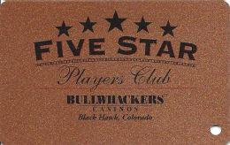 Bullwhackers Casino Black Hawk, CO Bronze Slot Card - ACC & Gambling Problem Phone# (BLANK) - Casino Cards