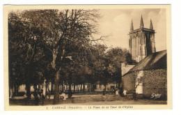 FINISTÈRE  /  CARHAIX  /  LA  PLACE  DE  LA  TOUR  DE  L' EGLISE - Carhaix-Plouguer