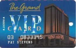 Bally´s Grand Casino Atlantic City NJ Slot Card - No Manufacturer Mark Over Mag Stripe - Casino Cards