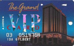 Bally´s Grand Casino Atlantic City NJ Slot Card - S5215 Over Mag Stripe - Casino Cards