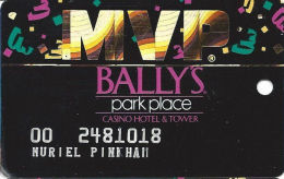 Bally´s Park Place Casino Atlantic City NJ MVP Slot Card - SC96 Over Mag Stripe - Casino Cards