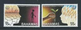 Bahamas 1992 Nutrition Conference Set Of 2 MNH - Bahamas (1973-...)