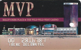 Bally´s Park Place Casino Atlantic City NJ MVP Slot Card - 3 Casinos Listed On Back - Color1 - Casino Cards