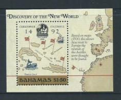 Bahamas 1988 Columbus Americas Discovery Miniature Sheet MNH , Small Colour Offset On Gum - Bahamas (1973-...)