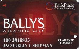 Bally´s Casino Atlantic City NJ - ParkPlace Connection Slot Card - Cpi Over Mag Stripe - Casino Cards