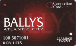 Bally´s Casino Atlantic City NJ - Connection Card - Cpi Over Mag Stripe - Casino Cards