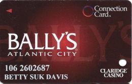 Bally´s Casino Atlantic City NJ - Connection Card - Innovative Over Mag Stripe - 2 Phone#s - Casino Cards