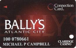 Bally´s Casino Atlantic City NJ - Connection Card - Innovative Over Mag Stripe - 3 Phone#s - Casino Cards