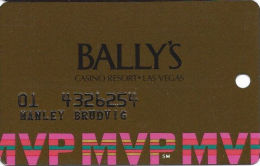 Bally´s Casino Las Vegas, NV MVP Slot Card - SC 94 Over Mag Stripe - Casino Cards