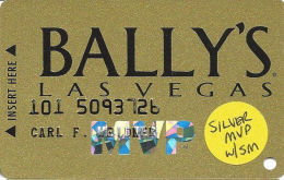 Bally´s Casino Las Vegas, NV Slot Card - Silver MVP With SM - Casino Cards